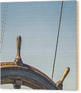 At The Helm Wood Print