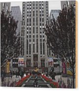 At The Rockefeller Center Wood Print