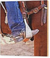 At The Rodeo Wood Print