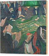 At The Roulette Table In Monte Carlo Wood Print