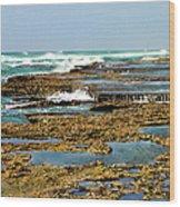 At The Sea Wood Print