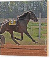At The Three Quarter Mile Post Wood Print