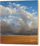 Clouds Over The Atacama Desert Chile Wood Print