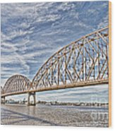 Atchafalaya River Bridge Wood Print