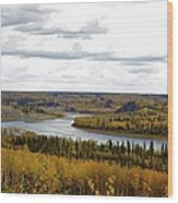 Athabasca Fall Wood Print