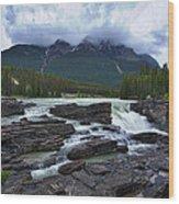 Athabasca Falls #3 Wood Print