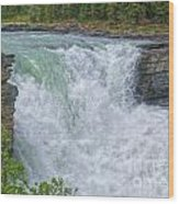 Athabasca Falls Study V Close-up Wood Print