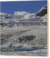 Athabasca Glacier 1 Wood Print
