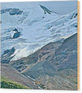 Athabasca Glacier Along Icefields Parkway In Alberta Wood Print