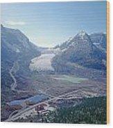 1m3735-athabasca Glacier Wood Print