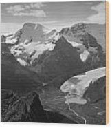 T-303504-bw-athabasca Glacier In 1957  Wood Print