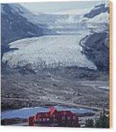 1m3734-athabasca Glacier W Original Icefields Chalet Wood Print