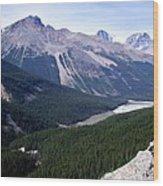 Athabasca River Valley Wood Print