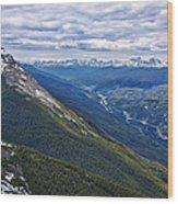 Athabasca River Valley - Jasper Wood Print