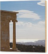 Athens And The Sea From The Acropolis Wood Print
