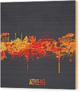 Athens Greece Wood Print by Aged Pixel