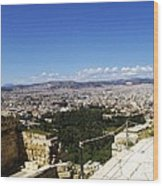 Athens View From Acropol Wood Print