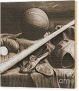 Athletic Equipment 1940 Wood Print