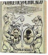 Athletics Vs Chicago 1929 World Series Wood Print