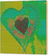 Athlone Heart Wood Print by Dorothy Rafferty
