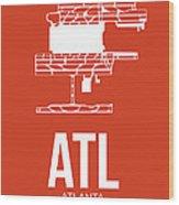 Atl Atlanta Airport Poster 3 Wood Print