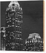Atlanta At Night  Wood Print