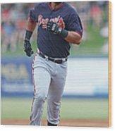 Atlanta Braves V New York Mets Wood Print