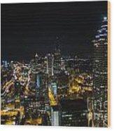 Atlanta City Lights Wood Print