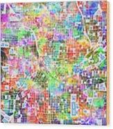 Atlanta Georgia Map 2 Wood Print