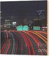Atlanta Interstae 85 Night Wood Print