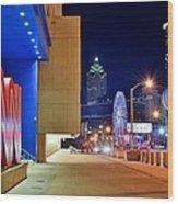 Atlanta Outside Cnn Wood Print