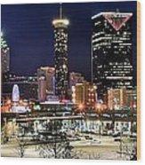 Atlanta Panoramic View Wood Print