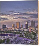 Atlanta Sunset Fulton County Stadium Braves Game  Wood Print