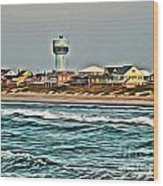 Atlantic Beach Wood Print