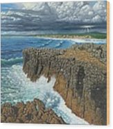Atlantic Breakers Pontal Portugal Wood Print