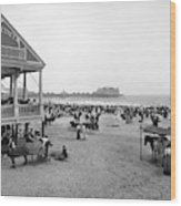 Atlantic City Beach, C1900 Wood Print