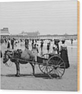 Atlantic City Beach, C1901 Wood Print