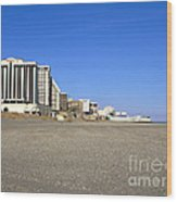Atlantic City New Jersey Wood Print
