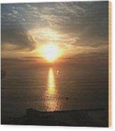 Atlantic City Sunset Wood Print