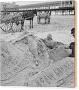 Atlantic City The Sandman Wood Print