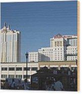 Atlantic City - Trump Taj Mahal Casino - 01133 Wood Print