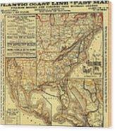 Atlantic Coast Line Railway Map 1885 Wood Print