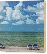 Atlantic Ocean At Smathers Beach In Key Wood Print