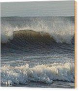 Atlantic Ocean Wave Wood Print