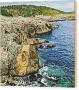 Atlantic Shoreline Wood Print