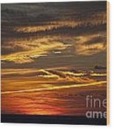 Atlantic Sunset Wood Print