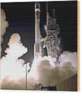 Atlas 2as Rocket Launch Wood Print