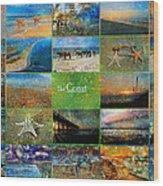 Atmospheric Beaches   Wood Print