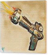 Atomic Blaster Wood Print