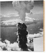Atomic Burst Over Nagasaki Wood Print